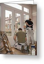 House Painters At Work Greeting Card
