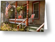 House - Porch - Traditional American Greeting Card