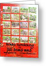 House Rendering Card Greeting Card