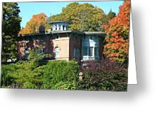 House Surrounded By Autumn Greeting Card
