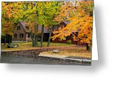 House Surrounded With Colors Greeting Card