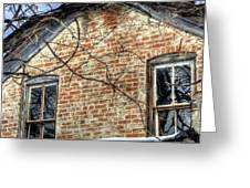House Two Windows 13089 Greeting Card