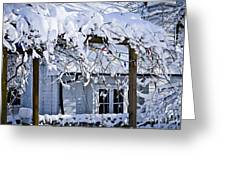 House Under Snow Greeting Card