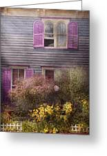 House - Victorian - A House To Call My Own  Greeting Card by Mike Savad