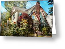 House - Westfield Nj - The Summer Retreat  Greeting Card by Mike Savad