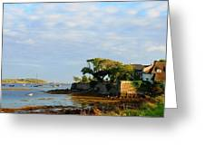 House With A View Greeting Card