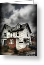 House With Brick Front - American Gothic Greeting Card