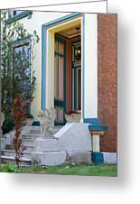 House With Griffin Lafayette Square St Louis Greeting Card