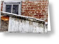 House With Shed 13122 Greeting Card