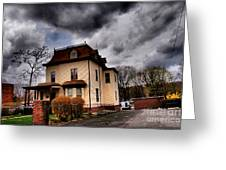 House With Storm Approaching Greeting Card