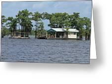 Houseboat - Atchafalaya Basin Greeting Card