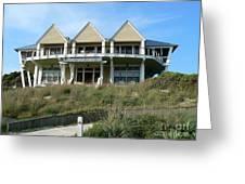 Houseboat Boathouse Greeting Card