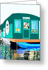 Houseboat Greeting Card