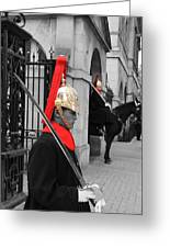 Household Cavalry Guards  Greeting Card