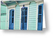 Houses Along A Street, French Quarter Greeting Card