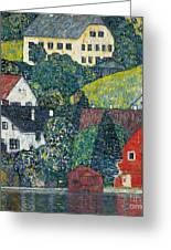 Houses At Unterach On The Attersee Greeting Card
