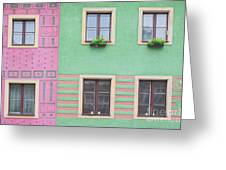 Houses From The Outside Greeting Card