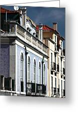 Houses In Alfama Greeting Card by John Rizzuto