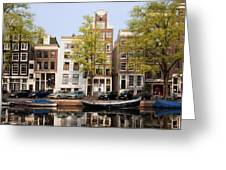 Houses In Amsterdam Greeting Card