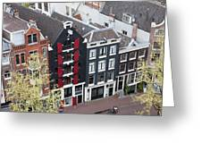 Houses In Amsterdam From Above Greeting Card