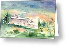 Houses In Montepulciano In Tuscany 02 Greeting Card
