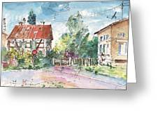 Houses In Soufflenheim Greeting Card