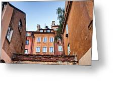 Houses In The Old Town Of Warsaw Greeting Card