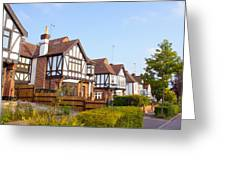 Houses In Woodford England Greeting Card