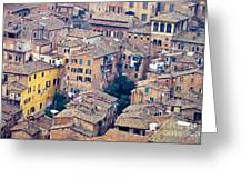 Houses Of Old City Of Siena - Tuscany - Italy - Europe Greeting Card