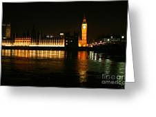 Houses Of Parliament - London Greeting Card