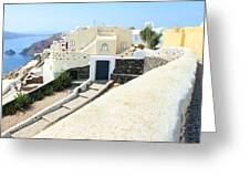 Houses Oia Santorini Greeting Card