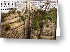 Houses On A Rock In Ronda Greeting Card