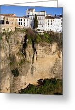 Houses On Rock In Ronda Greeting Card