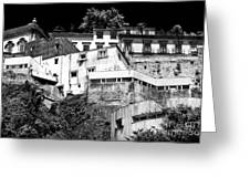 Houses On The Hill Greeting Card