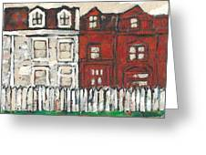 Houses On William Street Greeting Card
