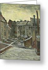 Houses Seen From The Back Greeting Card