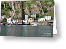 Houses With Expressive Brushstrokes Greeting Card