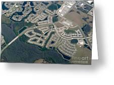 Housing Development Near Wetland Greeting Card