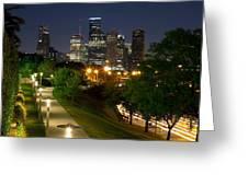 Houston At Night Greeting Card