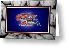 Houston Colt 45's Greeting Card by Joe Hamilton