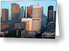 Houston Financial District Greeting Card