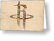 Houston Rockets Logo Art Greeting Card