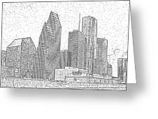 Houston Skyline Abstract Greeting Card