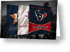 Houston Sports Teams Greeting Card