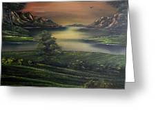 How Green Is My Valley Greeting Card by Cynthia Adams