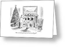 How Much Of A Gratuity Does Santa Usually Get? Greeting Card