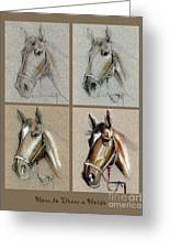 How To Draw A Horse Portrait Greeting Card