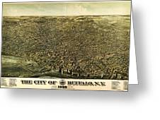 Howards Map Of Buffalo New York 1880 Greeting Card
