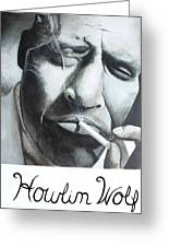 Howlin Wolf Greeting Card by Patrick Kelly