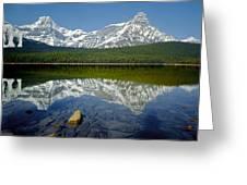 1m3643-howse Peak, Mt. Chephren Reflect Greeting Card